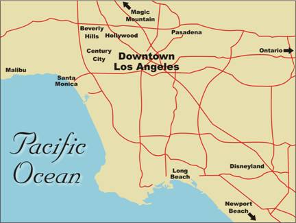 freeway map of los angeles