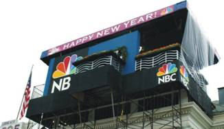 NBC's TV Camera booth for the Rose Parade