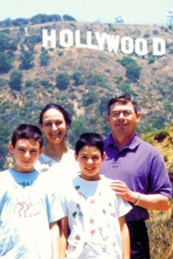 Family Portrait in front of Hollywood Sign
